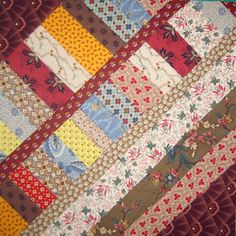 Free Quilt Block Patterns, M through S: String Pieced Quilt Block Pattern