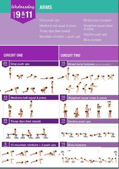 Kayla Itsine, Bikini Body Guide - Week 9 & 11, Wednesday