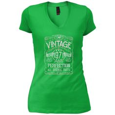 Vintage Aged To Perfection 1971 - 47th Birthday Gift T-shirt