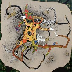 "Saatchi Art Artist Jette Reinert; Painting, ""See my dress and all my friends..."" #art"