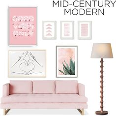 Simple Mid - Century Modern by venus-le on Polyvore featuring interior, interiors, interior design, home, home decor, interior decorating, Gus* Modern, Art Addiction and modern