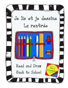 Je lis et je dessine - La rentrée Back to school read and draw Reading Comprehension Activities, Pencil Boxes, Student Reading, Learn French, Back To School, Texts, Draw, Teaching, Kids