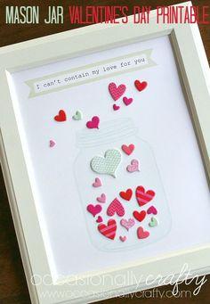 Mason Jar Valentine's Day - An Easy DIY Gift or Home Decor Idea