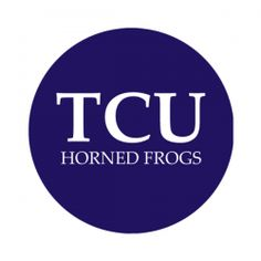 """Texas Christian University 1-1/2"""" Round Labels - Free Shipping. Use these semi-gloss circle labels to seal envelopes or as an eye catching touch to demonstration your school pride."""