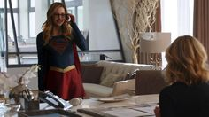#Supergirl in Cat's office.