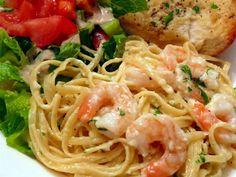 shrimp chicken linguine fettuccine Alfredo Pasta