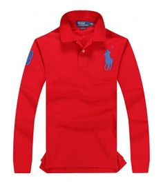 POLO RALPH LAUREN shirt with long sleeves red