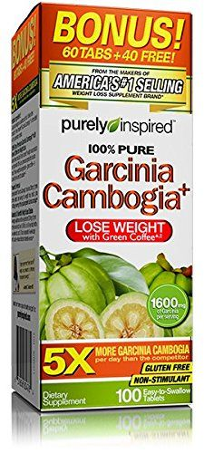 Purely Inspired Garcinia Cambogia Plus Tablets (1600mg of Garcinia per serving ), 100 Count ** Quickly view this special  product, click the image : Weight Management