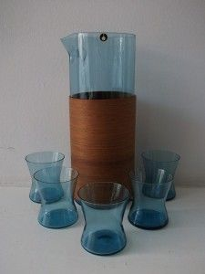 cocktail set.  Swedish glass Pukeberg