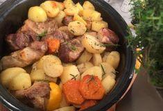 Μαριναρισμένο χοιρινό στη γάστρα με εσπεριδοειδή και πατάτες-featured_image My Recipes, Cooking Recipes, Xmas Food, Food Categories, Pot Roast, Potato Salad, Sausage, Food And Drink, Meals