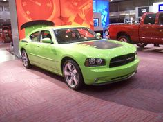 "A new Dodge Charger Daytona R/T in ""Sublime Green"". Its the Hemi..."