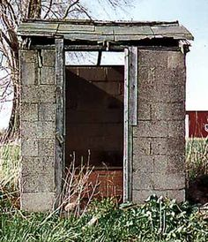 An outhouse from somewhere in Michigan.  From a Pinterest board of outhouses!  So cool!!
