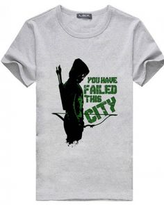 Cool Green Arrow tshirt you have failed this city letter printed tee for men