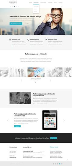 INVISION Corporate PSD Template #web #design