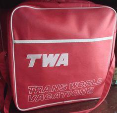 twa airlines flight bag