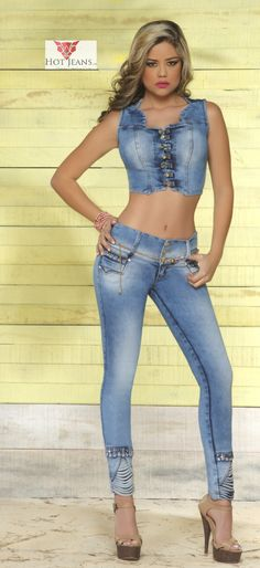 ¡Gorgeous ! Distress Diamond Gem #Skinnyjeans set - Made in Colombia