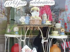Randoons in wonderland 10 year celebration window
