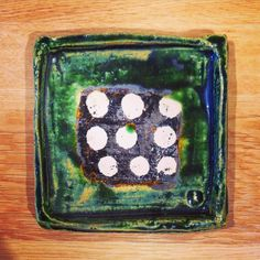 田中将則さん作織部水玉角小皿田中将則さんのうつわ展は本日初日です #織部 #織部下北沢店 #陶器 #器 #ceramics #pottery #clay #craft #handmade #oribe #tableware #porcelain