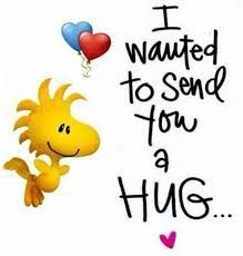 ~Snoopy & Woodstock ~ To thank you for ALWAYS being there for me Peanuts Quotes, Snoopy Quotes, Peanuts Cartoon, Peanuts Snoopy, Snoopy Hug, Hug Quotes, Funny Quotes, Smile Quotes, Sending You A Hug