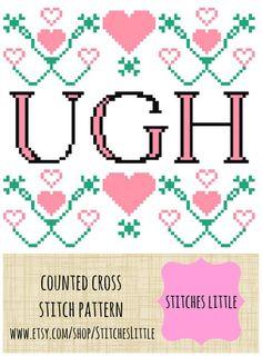 Subversive Cross Stitch Pattern Modern Cross by StitchesLittle, $4.00