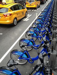 Citibikes stocked in the West Village, NYC
