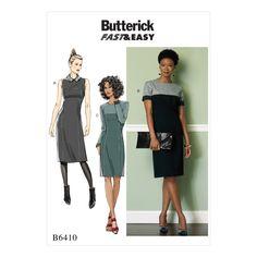 englisches Schnittmuster Butterick 6410 Damenkleider Gr....