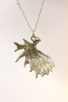 Antler Necklace Moose Pendant  Sterling Silver by mrd74 on Etsy, $75.00