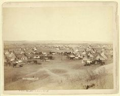 View of a large Lakota camp. Pine Ridge Indian Reservation. 1891. Photo by John C. H. Grabill.