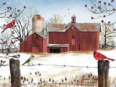 Winter Friends by artist Billy Jacobs 13x16 16x20 22x28