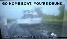 (boat,railroad,hurricane sandy,nyc,go home you're drunk)