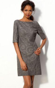 Nice Bateau Half-Sleeve Lace Column Short Homecoming Dresses