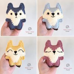 Ravelry: Pocket Fox pattern by Spin a Yarn Crochet Crochet Wolf, Crochet Hippo, Knit Or Crochet, Crochet Animals, Free Crochet, Yarn Animals, Small Animals, Animal Knitting Patterns, Crochet Amigurumi Free Patterns
