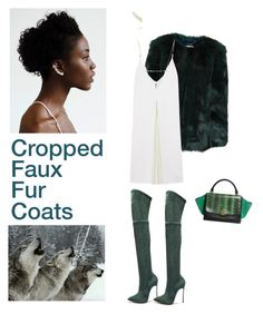 """""""Cropped faux fur coats are on fire right now"""" by sarah-who ❤ liked on Polyvore featuring мода, Casadei, Christopher Kane, Sophie Bille Brahe, women's clothing, women, female, woman, misses и juniors"""