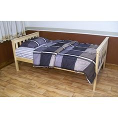 A&L Furniture Slat Bed Color: Clear Finish, Size: Full