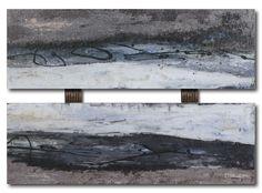Gray Abstract Set by Tina O. Framed Painting Print