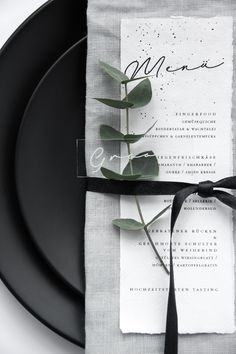 So love this white menu placed on gray napkin wedding table settings with greenery, wedding tableware, The Effective Pictures We Offer You About wedding table decorations romantic A quality picture ca Trendy Wedding, Diy Wedding, Rustic Wedding, Dream Wedding, Wedding Foods, Modern Wedding Ideas, Wedding Parties, Wedding White, Black Wedding Decor