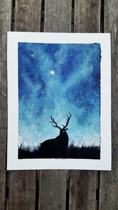 Deer painting, space painting