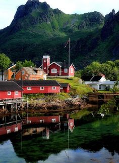 Beautiful Svolvaer, Norway, is the administrative center of Vagan Municipality in Nordland County, Norway. It is located on the island of Austvågøya in the Lofoten archipelago Lofoten, Places To Travel, Places To See, Travel Destinations, Oslo, Places Around The World, Around The Worlds, Wonderful Places, Beautiful Places