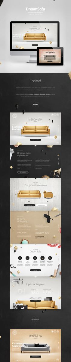Art direction and graphic design for the new product section of DreamSofa online shop.Created in 2013.