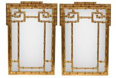 LaBarge Gilt Faux-Bamboo Mirrors, Pair