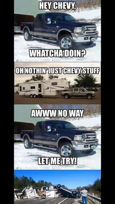 Chevy > ford