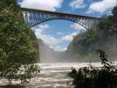 The bridge between Zimbabwe and Zambia, across the Zambesi river