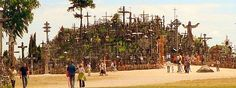 Hill of Crosses - A pilgrimage site with 100 000 crosses Birth: Early 20th century Location: Šiauliai, Lithuania Architect: Pilgrimes
