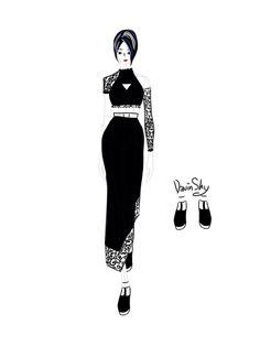 Dark dress