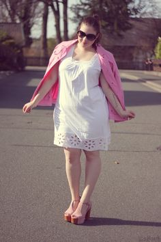 14.04.13 - wearing: b² by Via Appia jacket, bonprix dress, Jeffrey Campbell Foxy Shoes and Chanel sunnies