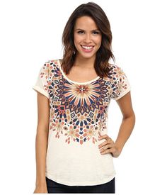Lucky Brand Medallion Necklace Tee. Found this at TJ Max!