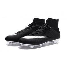 Venta 2017 Nike Mercurial Superfly FG Blaak Plata Zapatos De Soccer 2e2c3ce0e89ab