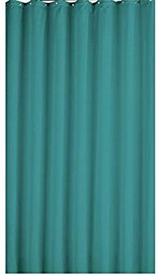 100 Polyester Teal Shower Curtain With Metal Rings Amazoncouk