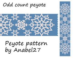 Peyote pattern Snowflake  beadwork  winter / by Anabel27shop