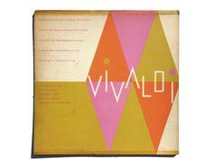 "Alvin Lustig record album design, ""Vivaldi"" LP by NewDocuments on Etsy"